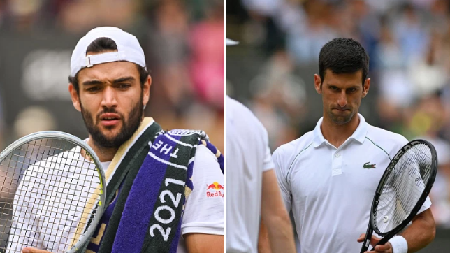 Italy's Matteo Berrettini faces Serbia's Novak Djokovic in the Wimbledon final