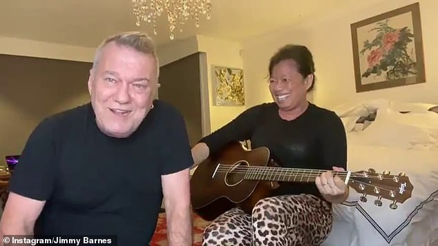 'It brought Jane and I closer together': The couple famously uploaded daily videos of themselves performing together in their lounger room during the pandemic last year, and as a result, have grown even closer