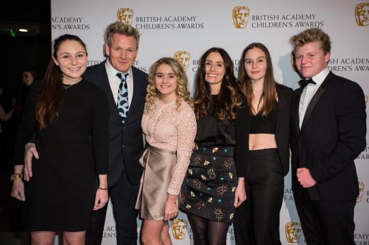 Megan Ramsay, Gordon Ramsay, Matilda Ramsay, Tana Ramsay, Holly Ramsay, Jack Ramsay at the BAFTA Children's Awards 2016
