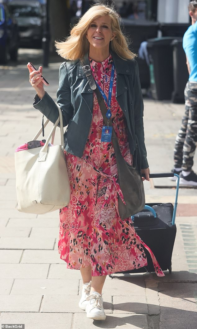 Truth! 'I know Derek is an extreme example, but there are more Long Covid symptoms emerging. All the time there are more issues' said Kate (Pictured on her way to Smooth radio)