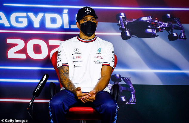 Real fears: Over the weekend, Lewis Hamilton admitted he could still be suffering from Long Covid after eight months