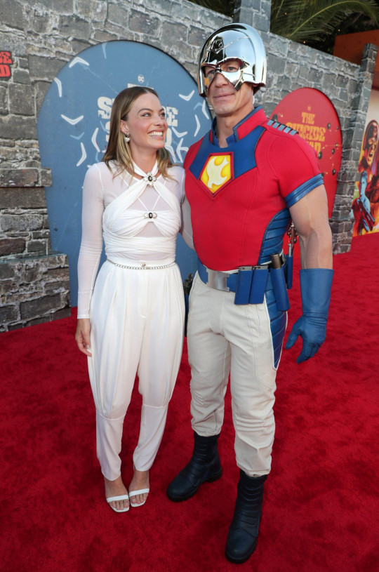 Mandatory Credit: Photo by Eric Charbonneau/REX/Shutterstock (12244470fh) Margot Robbie, John Cena Warner Bros. Pictures World Premiere of THE SUICIDE SQUAD, Westwood, CA, USA - 2 Aug 2021