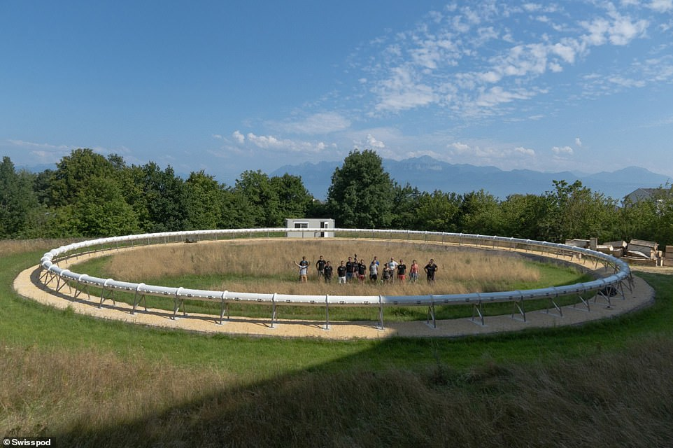 The miniature circular version of the final system, about 130 feet in diameter, is based at the Swiss Federal Institute of Technology in Lausanne (EPFL)
