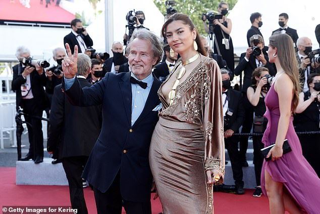 Partying in France:Last month the siren was seen with her longtime beau John Savage at the A Felesegam Tortenete/The Story Of My Wife screening during the 74th annual Cannes Film Festival