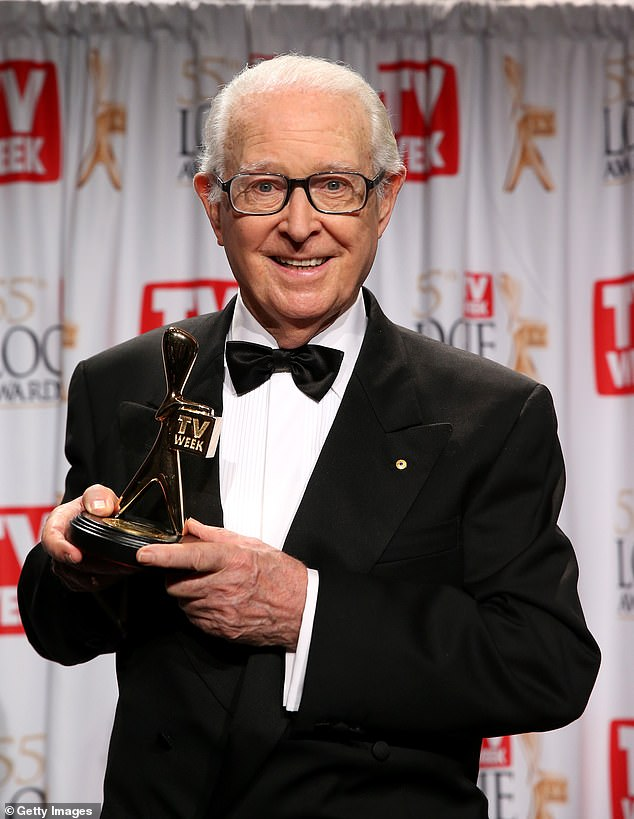 Brian Henderson told The Daily Telegraph in February 2020 that he wanted to spend his last days with his family and doting wife of 48 years, Mardi. Pictured: Brian in the Logies Hall of Fame in 2013