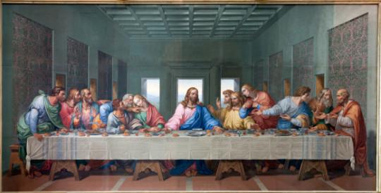 Vienna - Mosaic of Last supper by Giacomo Raffaelli