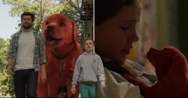 Jack Whitehall and Darby Camp in Clifford the Big Red Dog