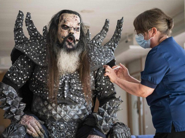 Lordi gets his 2nd COIVID vaccine