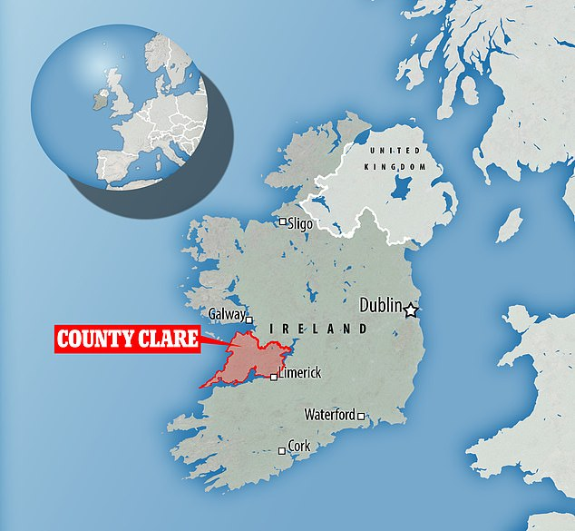 Researchers wouldn'tdisclose the exact location where it was filmed – only that it was seen off County Clare
