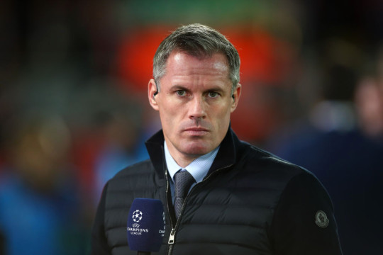 Jamie Carragher during the UEFA Champions League group E match between Liverpool FC and RB Salzburg at Anfield on October 2, 2019 in Liverpool, United Kingdom.