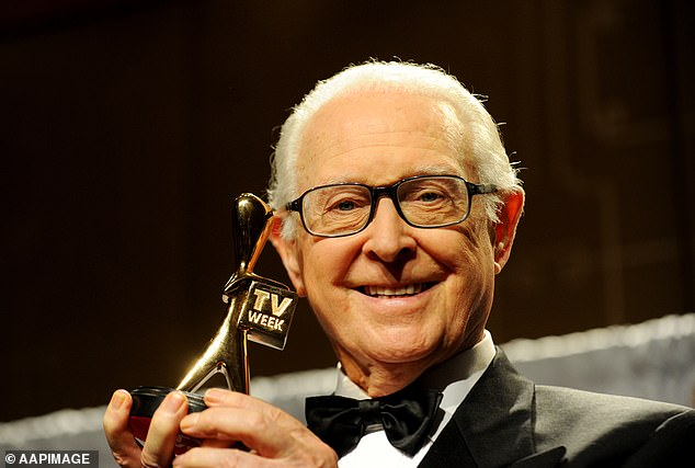 Legendary Channel Nine newsreader Brian Henderson has died at age 89. Pictured here in 2013 when he was inducted into the Logie Hall of Fame