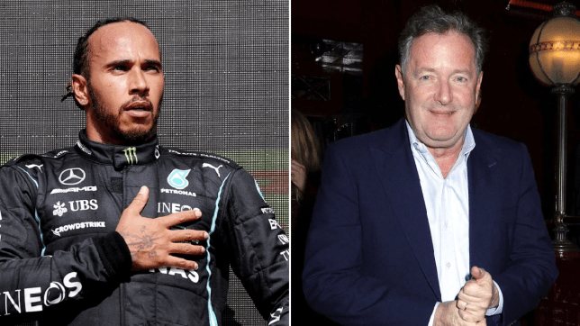Lewis Hamilton and Piers Morgan