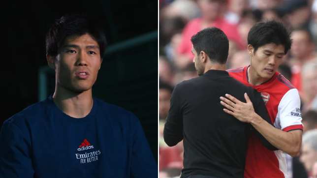 Takehiro Tomiyasu sends message to Mikel Arteta over his best position for Arsenal