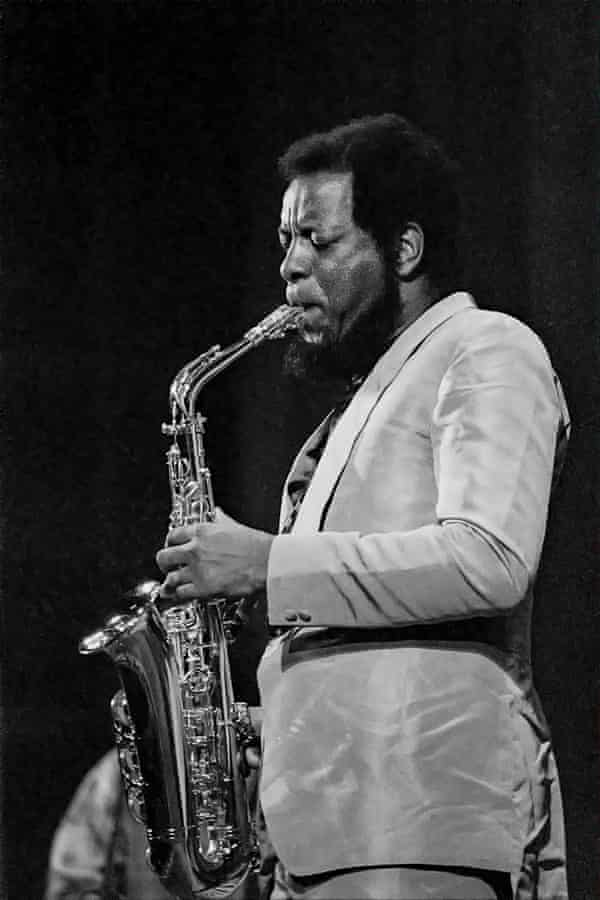 Free jazz musician Ornette Coleman performing in 1971.
