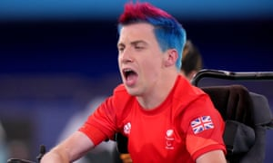 Great Britain's David Smith competes in the Individual - BC1 Gold Medal Match against Malaysia's Chew Wei Lun.