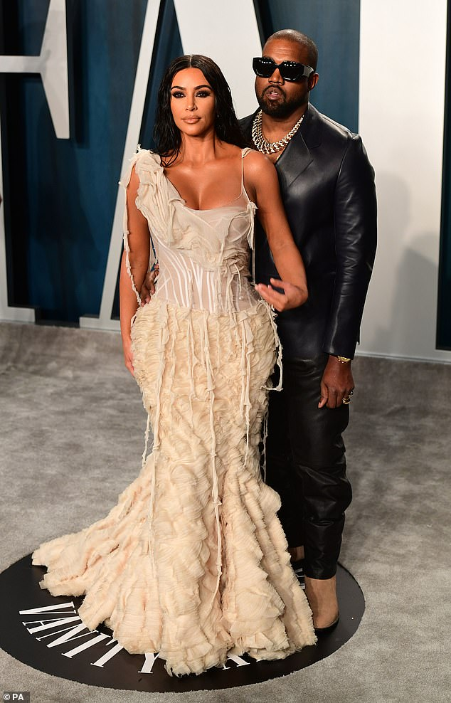 The way they were:The star appeared alongside Kanye and paid tribute to their seven year marriage, despite her filing for divorce in February of this year