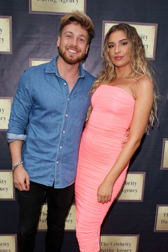 Sam Thompson and Zara McDermott at the Celebs Go Dating Finale.