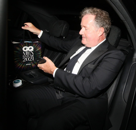 NORMAL NON EX PRICES PIERS MORGAN THE GQ AWARDS DEPARTURES AT THE TATE MODERN WEDNESDAY 1ST SEPTEMBER 2021 JAMES CURLEY AND MAGICMOMENTSUK
