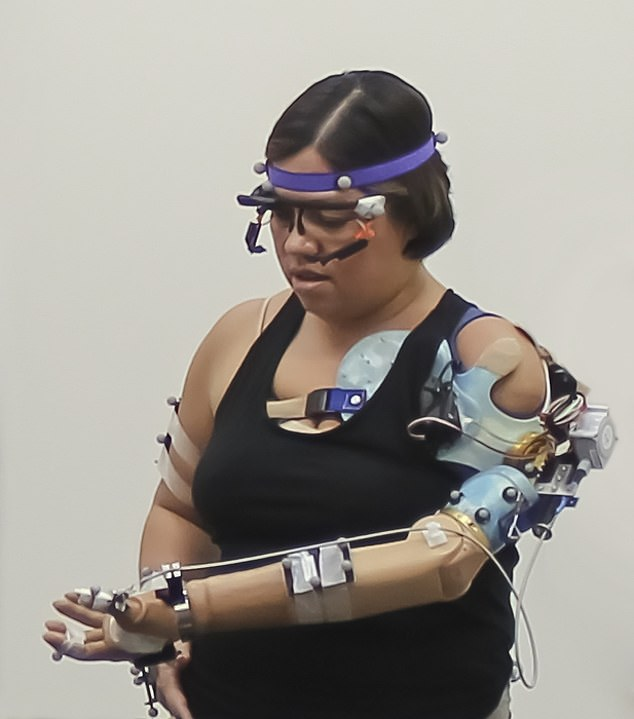 This is the first prosthetic limb that is able to test all key functions of a hand at the same time, and uses a brain-computer interface to trigger the interaction