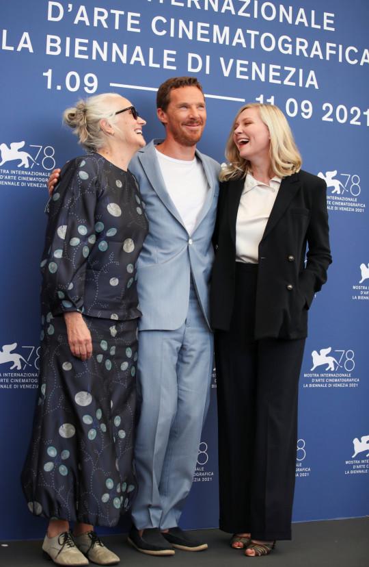 Benedict Cumberbatch, Jane Campion and Kirsten Dunst