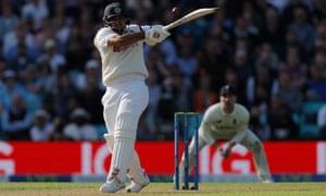 Thakur hits a six.