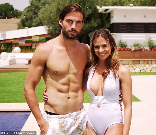 Lovely: Camilla and now fiancé Jamie met on the 2017 series of Love Island, to which the former contestant admitted it has been the 'most amazing' and 'unexpected thing' (pictured)
