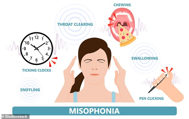 Concept image shows the causes ofmisophonia, which refers to getting annoyed by noises other people make, rather than actions. Note thatmisokinesia, or a 'hatred of movements', is a different condition