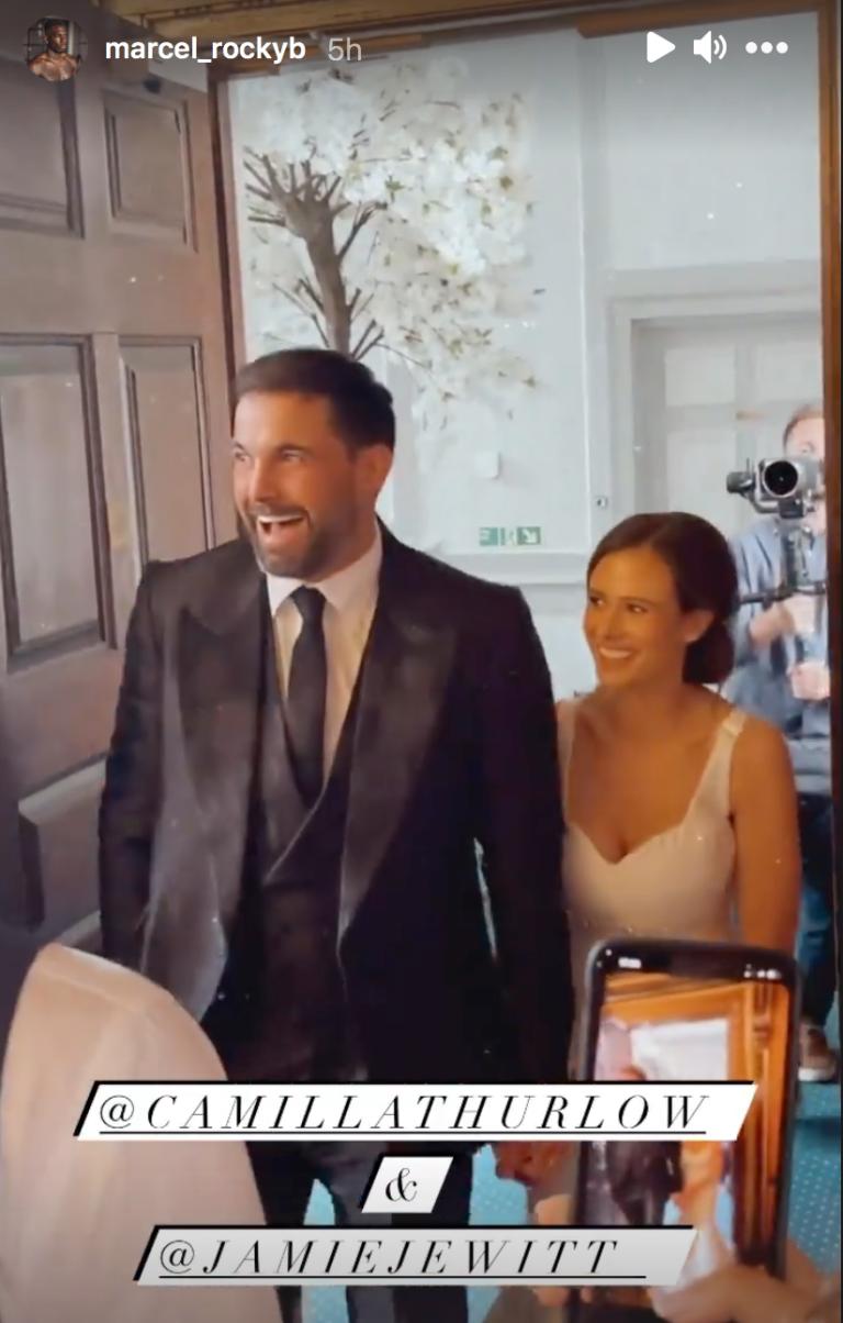 Love Island's Camilla Thurlow and Jamie Jewitt get married