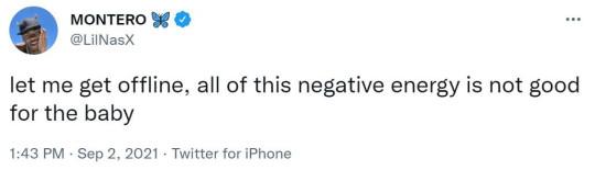 Lil Nas X - pregnant photos reaction tweets https://twitter.com/LilNasX/status/1433531082410917888