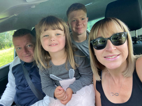 CATERS NEWS (PICTURED L-R Mark, Isabelle, Louie and Claire, the family together in the car) A woman who went through menopause at 13 after just ONE period - has had two miracle kids. Claire Pape, who lives in Beverley, East Yorks, was bamboozled when her menstrual cycle only occurred once as a teen. She experienced hot sweats and mood swings but doctors and parents assumed it was a part of puberty. Until years of tests finally revealed she had gone through menopause and she was told she will 'never' have children aged 17. SEE CATERS COPY