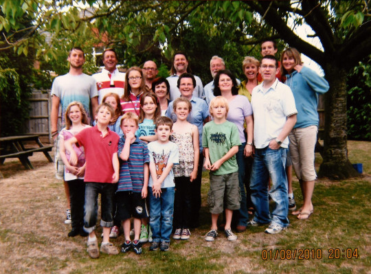 Pauline and Roger with their children, children's partners and grandchildren
