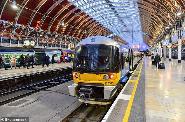 Updates from National Rail on WhatsApp include real-time details of departure platform announcements, delays, disruptions and alternative travel routes. Pictured,Paddington Station in London