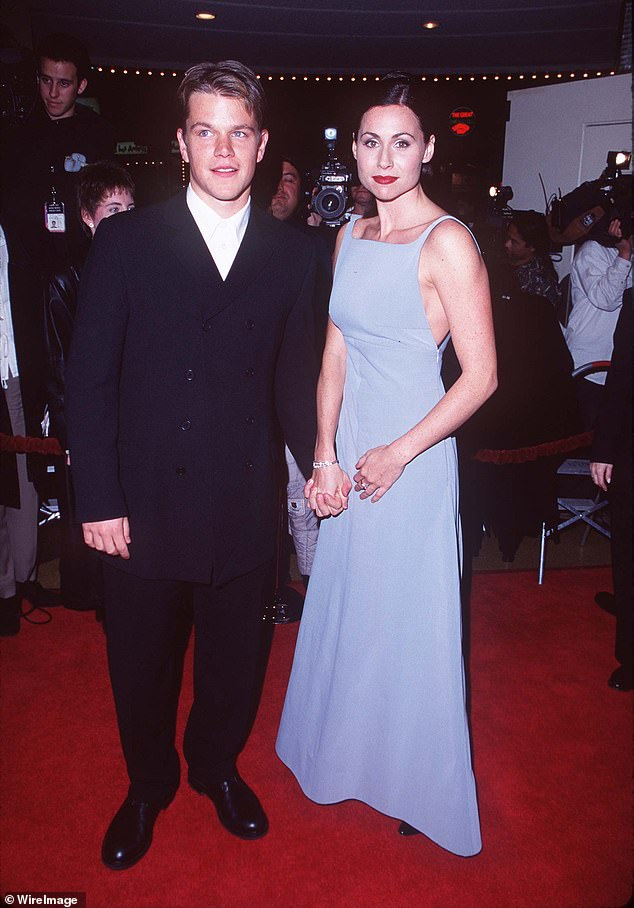 Time flies: The actress remarked that the meeting and conversation between her and Damon 'felt quite middle-aged'; they are seen in 1997