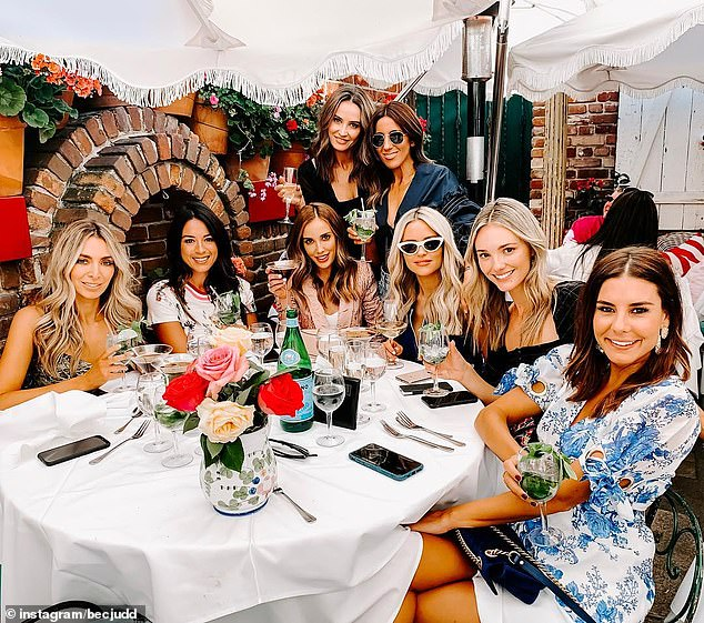'The cocaine video was deliberately leaked by someone within Nadia's elite Melbourne social circle,' the source said. Nadia's friends are pictured. Daily Mail Mail Australia is not suggesting any of the women pictured were involved in the leak