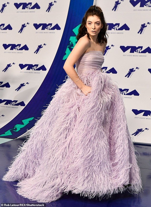 All over the world: Lorde has previously been nominated for various awards at international versions of the Video Music Awards; she is pictured at the 2017 incarnation of the event