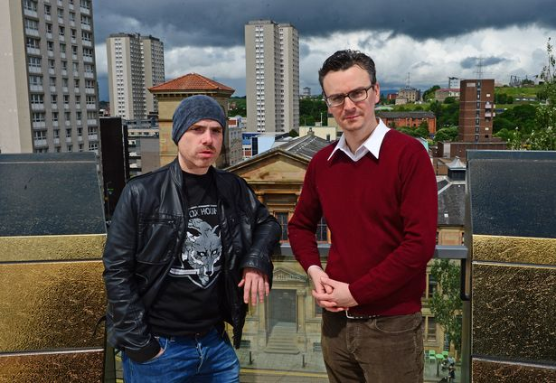 The Scotts creators Robert Florence and Iain Connell pictured at the Theatre Royal Glasgow
