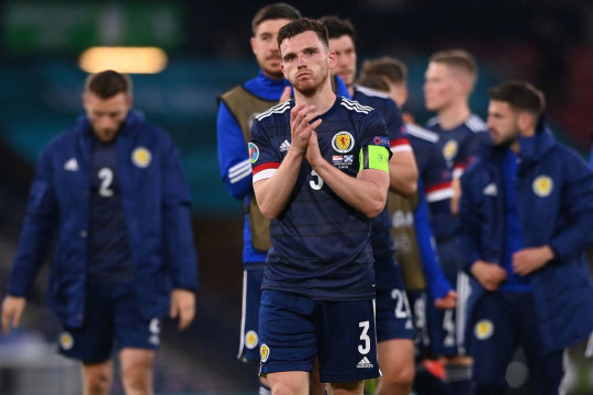 Scotland football captain Andy Robertson at the Euro 2020 comeptition.