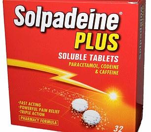 Painkiller Solpadeine, which contains codeine