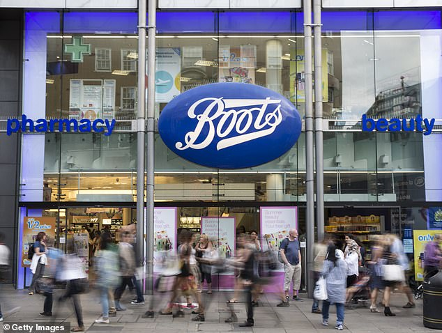 Opioid painkillers are readily available in high street pharmacies, including Boots (file image)
