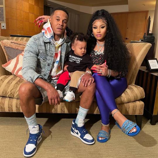 Nicki Minaj, Kenneth Petty and her son