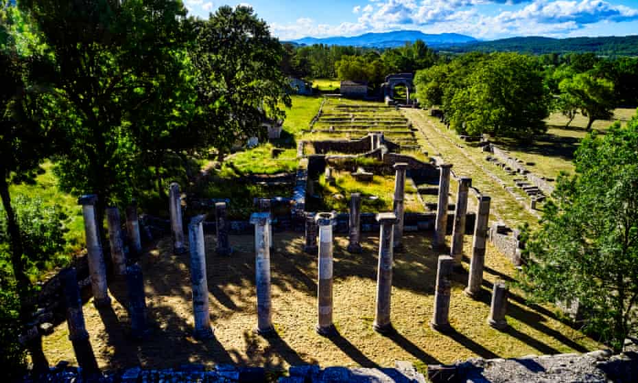 The Altilia archaeological site in Sepino.