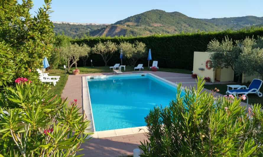 The pool at Masseria Santa Lucia, near Agnone.