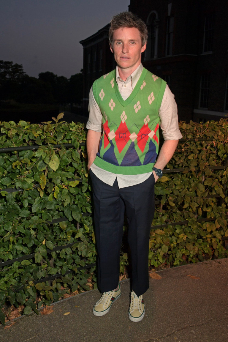 Eddie Redmayne attends the ATG Summer Party at Kensington Palace on Monday September 6, 2021.