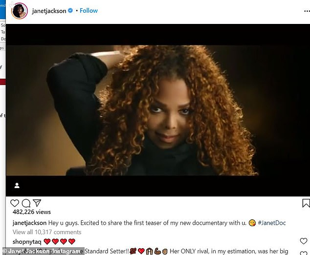 Coming: The JANET documentary will air over two nights on Lifetime and A&E in January 2022