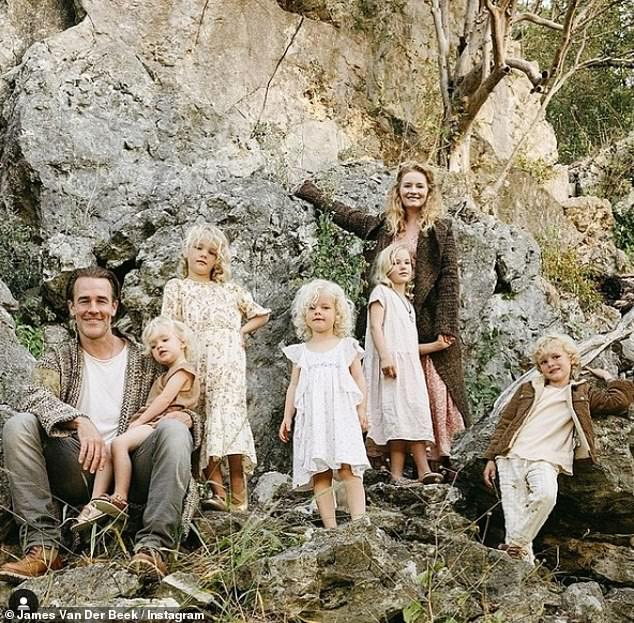 Home is where the heart is:The couple share Olivia, 10, Joshua, nine, Annabel, seven, Emelia, five, and Gwendolyn, three