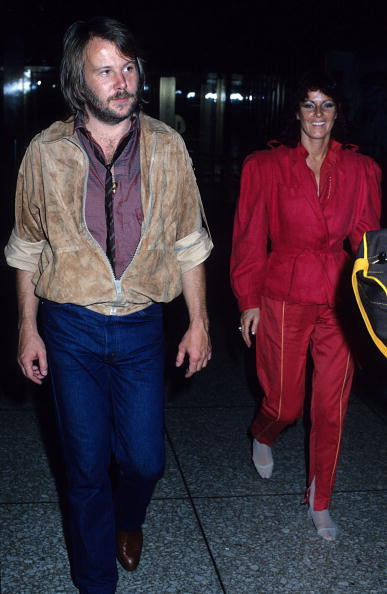 Benny Andersson and Anni-Frid Lyngstad of ABBA in New York City, late 1970s