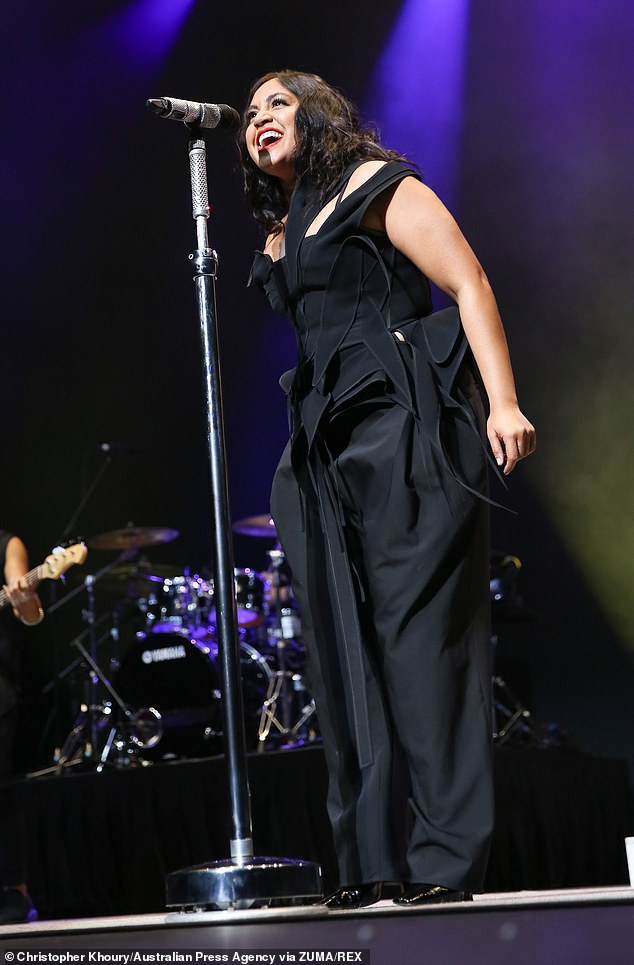 Big: The festival was previously held in November 2020 and delivered 1,000 Covid-safe gigs at more than 300 venues across NSW. Pictured: Jess Mauboy at Great Southern Nights2020
