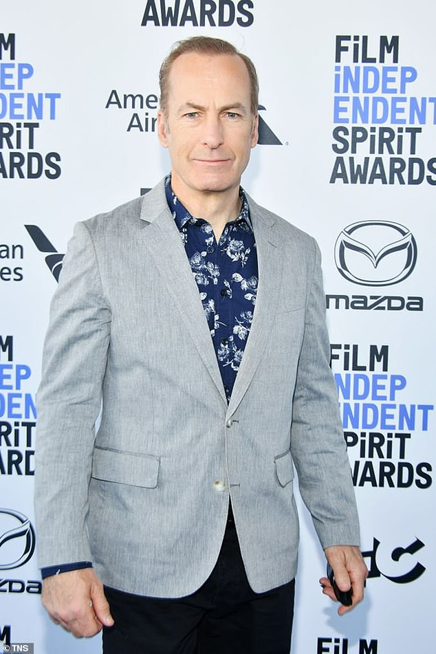 Before the heart attack: Odenkirk at the 2020 Film Independent Spirit Awards in 2020