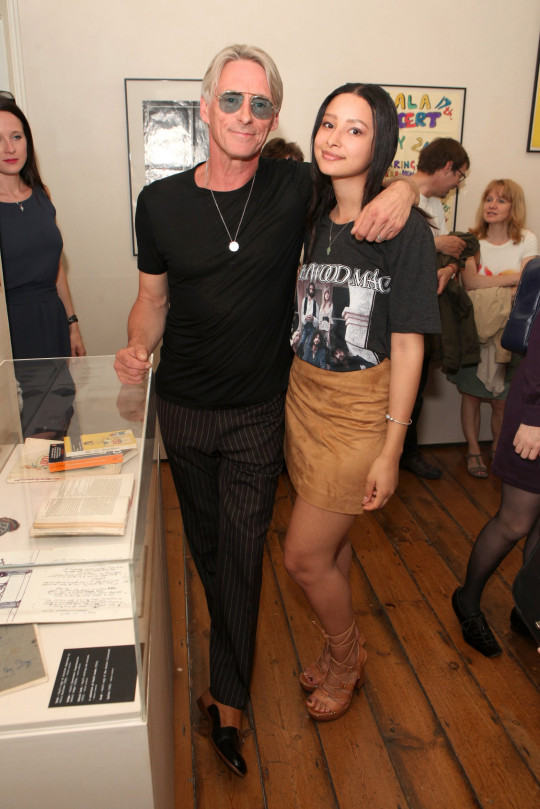 Musician Paul Weller of The Jam and his daughter Leah Weller.