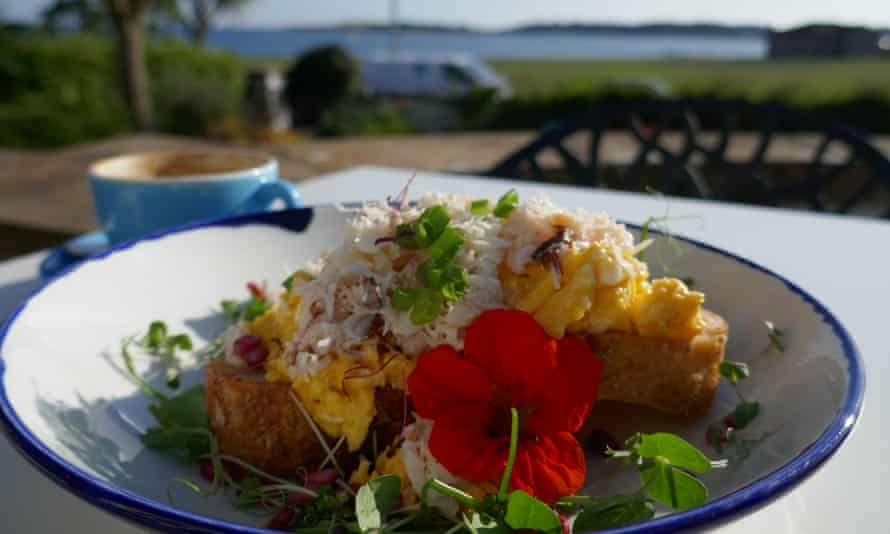Crab and scrambled egg at the Starfish cafe